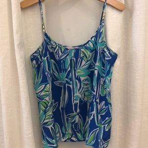 Lilly Pulitzer Cami tank- blue crush bamboo
